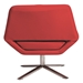 Chevron-S Red Faux Leather + Steel Modern Lounge Chair