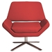 Chevron-S Red Leatherette + Stainless Steel Contemporary Lounge Chair