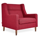 Gus* Modern Carmichael Contemporary Arm Chair in Andorra Sumac Fabric Upholstery with Solid Wood Legs