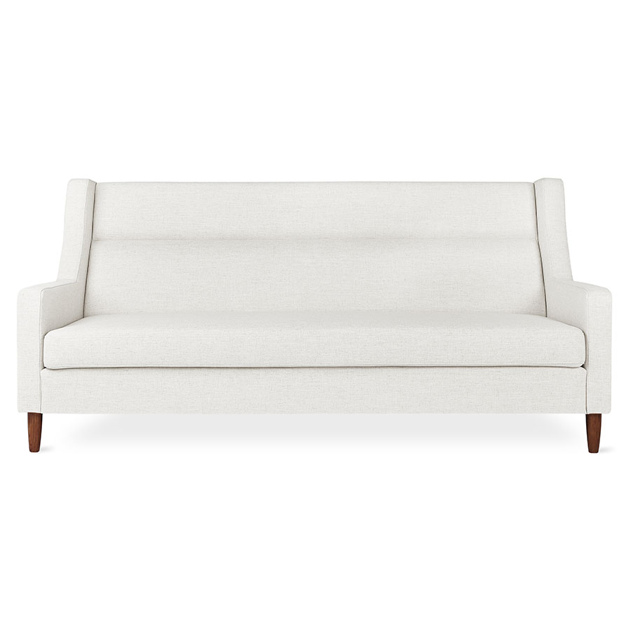 Gus* Modern Carmichael Loft Contemporary Sofa in Huron Ivory Fabric Upholstery