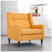 Carmichael Contemporary Lounge Chair in Laurentian Citrine - Lifestyle