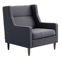Carmichael Contemporary Lounge Chair in Totem Storm