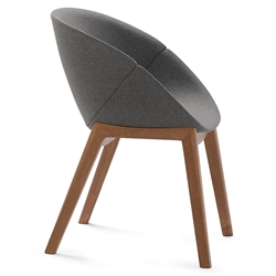 Carver Walnut Modern Chair by Domitalia