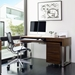 BDi Cascadia Contemporary Desk in Chocolate Stained Walnut + Satin Nickel