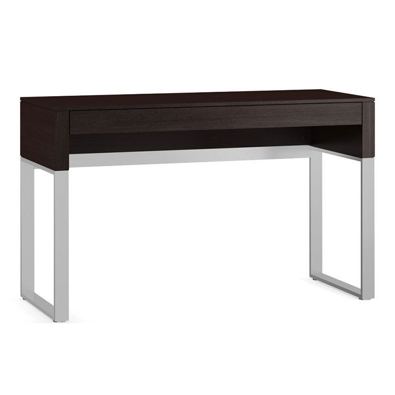 Bdi Cascadia Espresso Stained Oak Satin Nickel Modern Laptop Desk