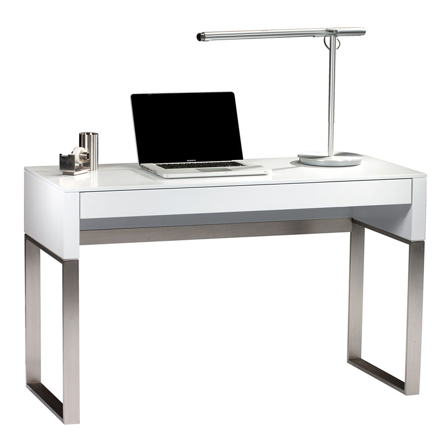cascadia white modern laptop deskbdi | eurway