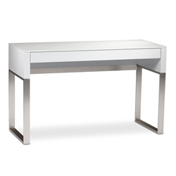 Cascadia White Contemporary Laptop Desk