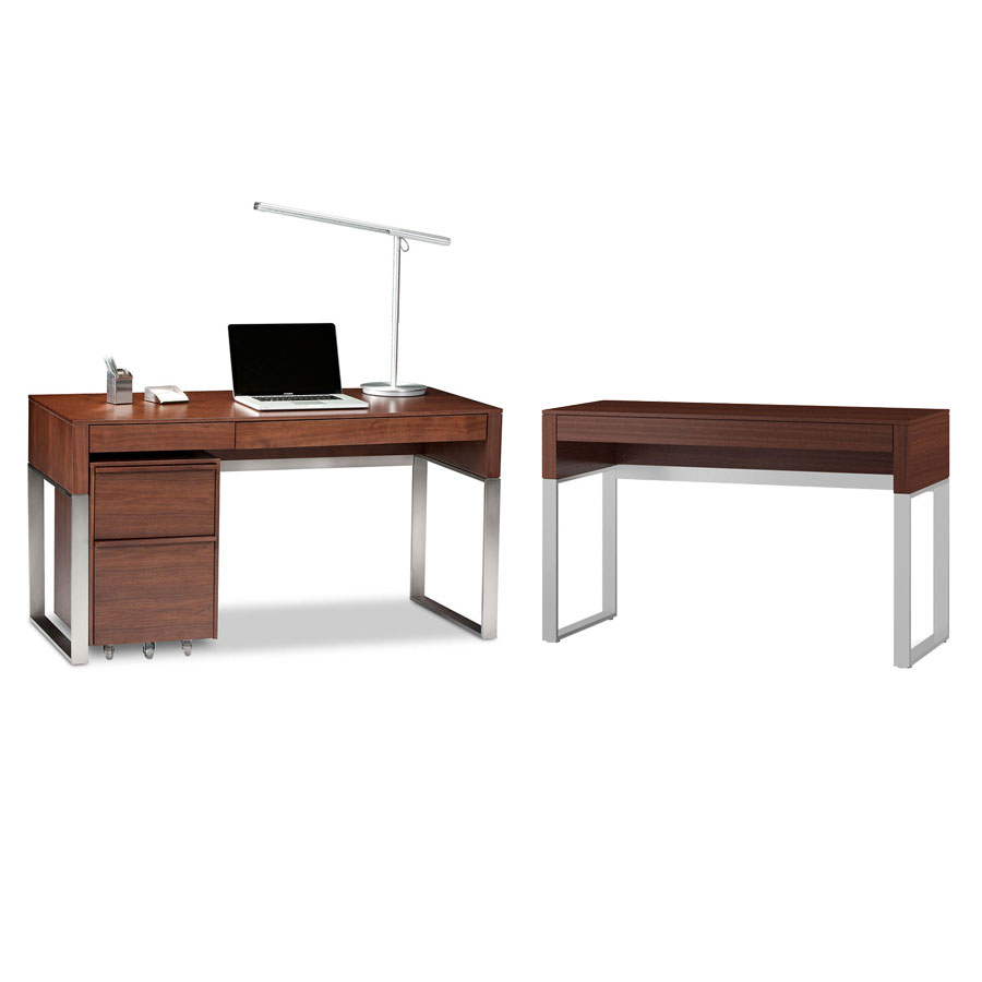 BDi Cascadia Chocolate Stained Walnut Modern Office Set