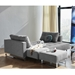 Cassius Excess Sleeper Sofa by Innovation in Melange Light Grey - Flat Position