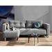 Cassius Excess Sleeper Sofa by Innovation in Light Grey - Front View