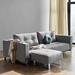 Cassius Excess Sleeper Sofa by Innovation in Melange Light Grey