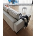 Cassius Quilt Modern Sleeper Sofa - Natural + Chrome - Overhead Back View