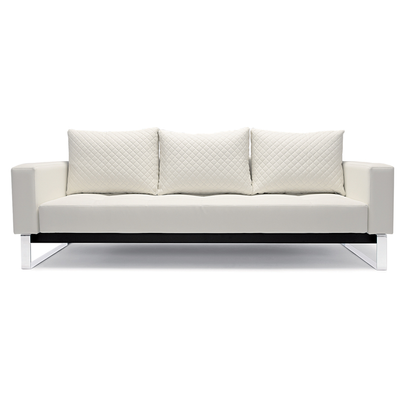 Exceptionnel Cassius Quilt White Modern Sofa Sleeper By Innovation