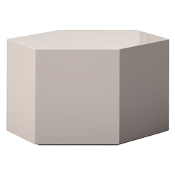 "Modloft Centre 10"" Hexagonal Modern Occasional Table in Chateau Gray"