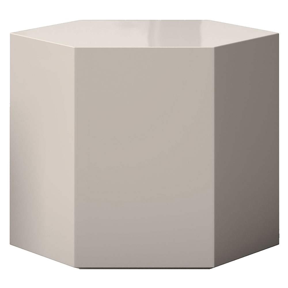 "Modloft Centre 14"" Modern Occasional Table in High Gloss Chateau Gray"