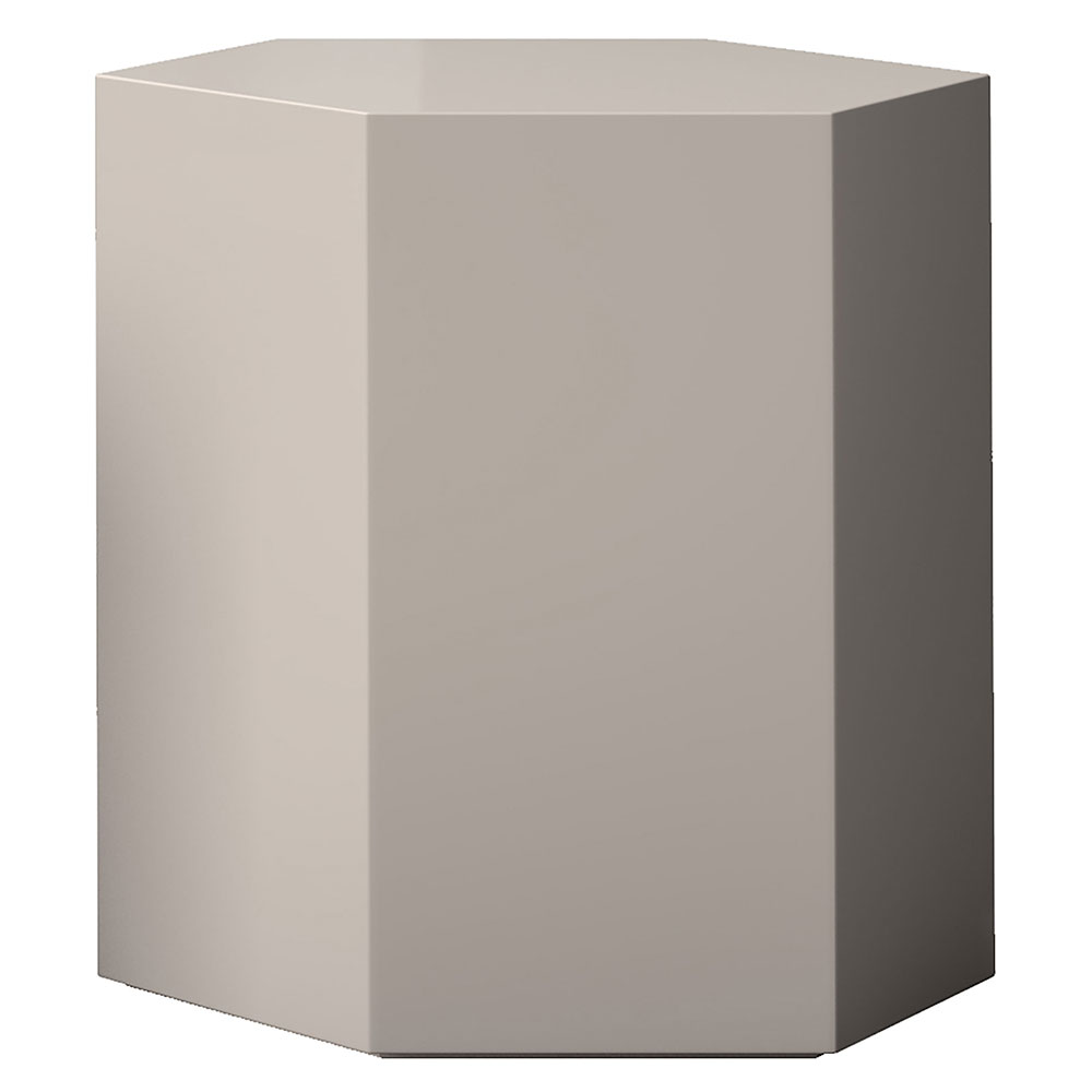"Modloft Centre 18"" Modern Occasional Table in Chateau Gray Lacquer"