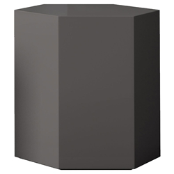 "Modloft Centre 18"" Modern Occasional Table in Dark Gull Gray Lacquer"