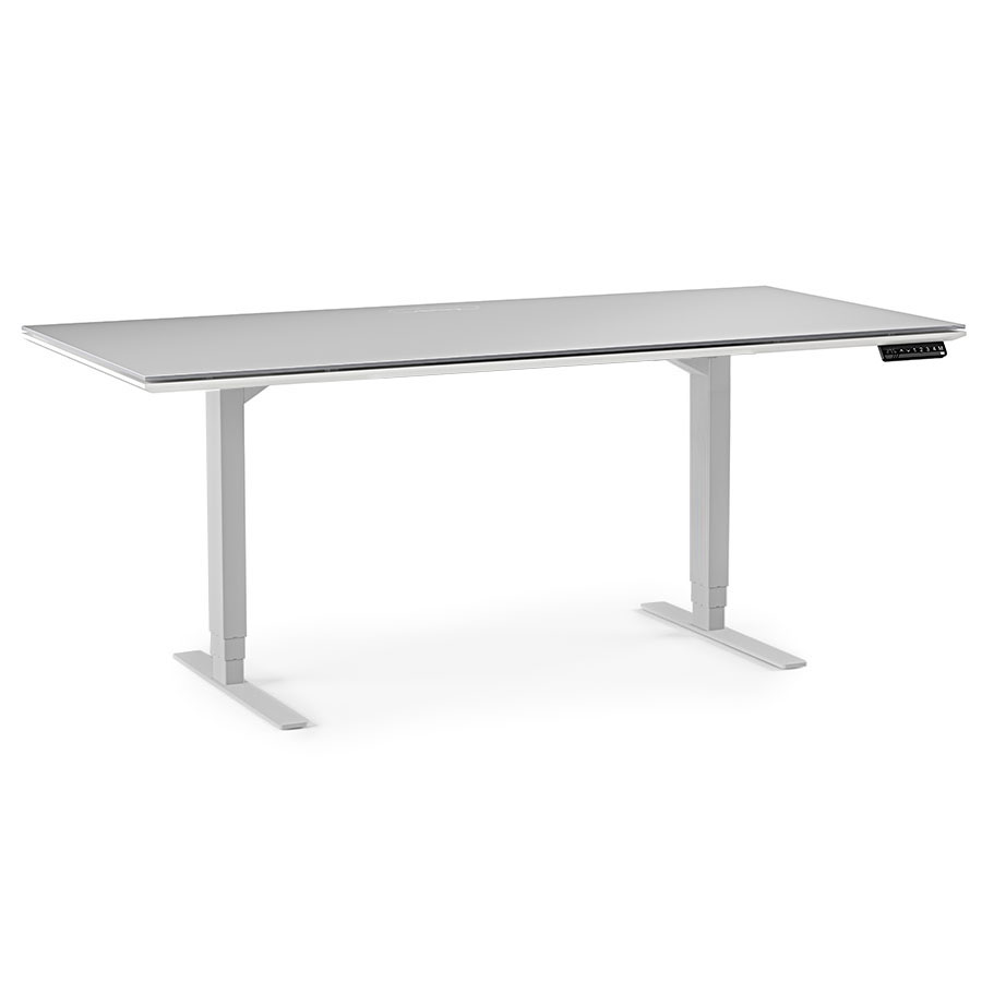 White desk with glass top modern l shaped desks just perfect for corner work space nu decoration - Top notch furniture for home office and interior design using various simple computer table ...