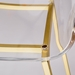 Chandler Gold Base Contemporary Bar Height Stool