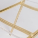Chandler Clear + Gold Contemporary Side Chair Detail