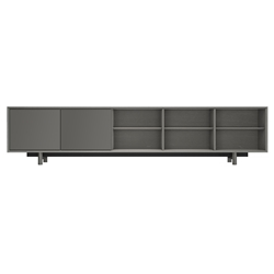 Chiswick Acier Gray Wood Modern Media Cabinet by Modloft Black
