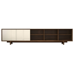 Chiswick Walnut Modern Media Cabinet by Modloft Black