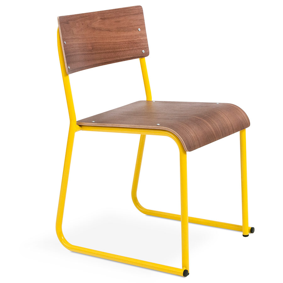 Contemporary canary colored accent chairs - Church Contemporary Chair By Gus Modern In Canary And Walnut