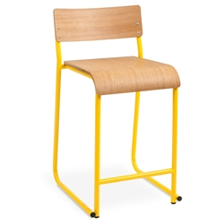 Church Contemporary Counter Stool by Gus Modern in Canary and Natural Oak