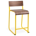Church Contemporary Counter Stool by Gus Modern in Canary and Walnut