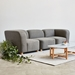 Gus* Modern Circuit Modular Modern Armless Chair / Sectional Unit in Bayview Osprey Fabric - Room Setting With Corner Chairs