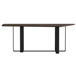 Modloft Clinton Modern Sofa Console Table in Smoked Oak