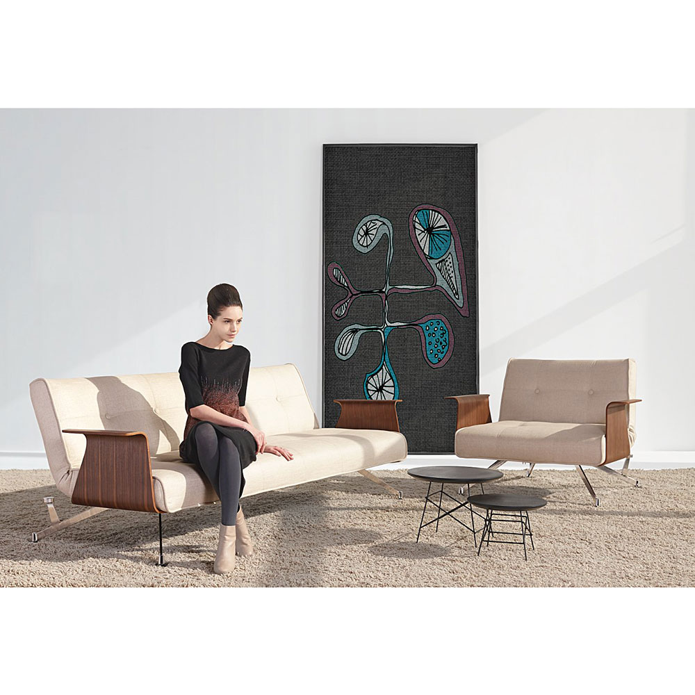 Clubber sofa with arms refil sofa for Maison corbeil chaise bercante