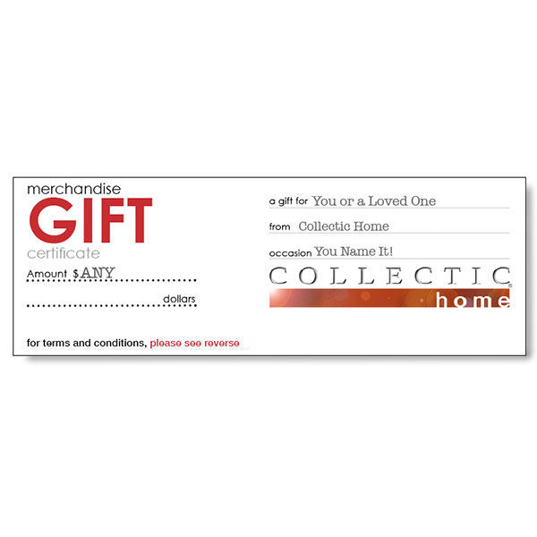 Collectic Home Gift Cards Gift Certificates