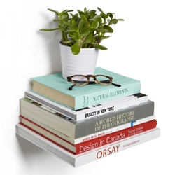 Umbra Conceal Large Silver Book Shelf 3-Pack