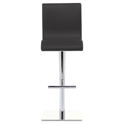 Condor SG Adjustable Stool in Black + Chrome by Pezzan
