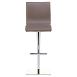 Condor SG Adjustable Stool in Taupe + Chrome by Pezzan
