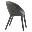 Coquille-L Anthracite Modern Chair by Domitalia