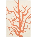Coral 8'x10' Rug in Cream and Orange