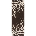 Coral Runner Rug in Brown and Cream