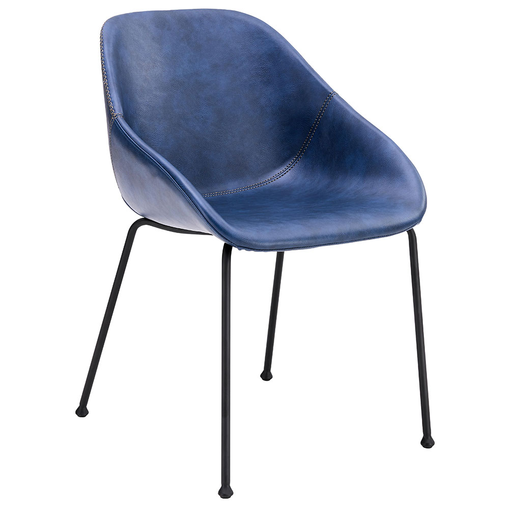 Corinna Modern Side Chair in Dark Blue by Euro Style