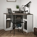 TemaHome Corner White + Concrete-Look Desk