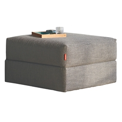 Cornila Modern Storage Ottoman in Taupe by Innovation