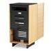 Corridor Oak Contemporary A/V Cabinet Back