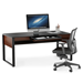 BDI Corridor Chocolate Executive Contemporary Desk