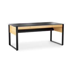 BDI Corridor Oak Contemporary Executive Desk