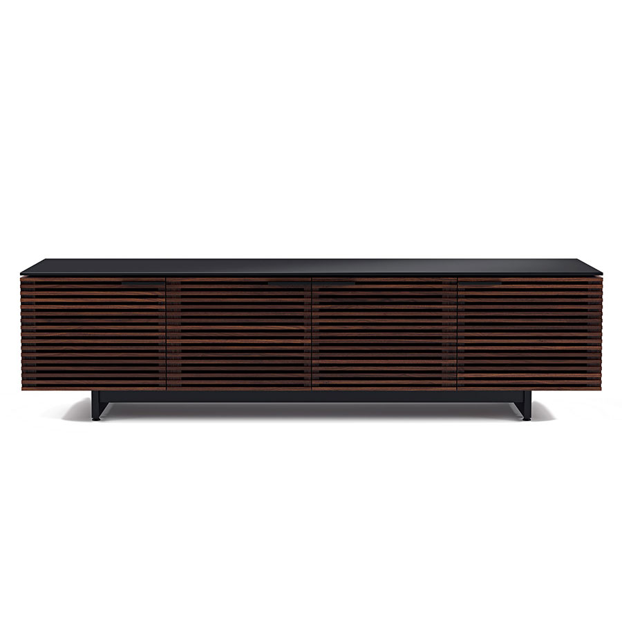 Corridor Chocolate Low Contemporary TV Stand Front