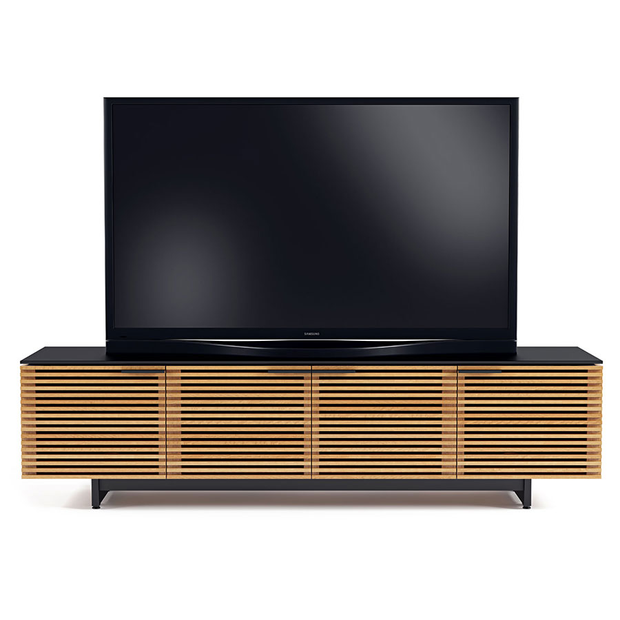 Bdi Corridor Oak Low Modern Tv Stand Eurway Furniture # Contemporary Tv Stands