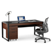 BDI Corridor Chocolate Contemporary Desk With File