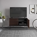 BDi Corridor SV 7128 Chocolate Stained Walnut Modern Media Console - Lifestyle, Open