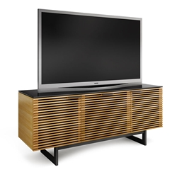 Corridor TV Stand in White Oak